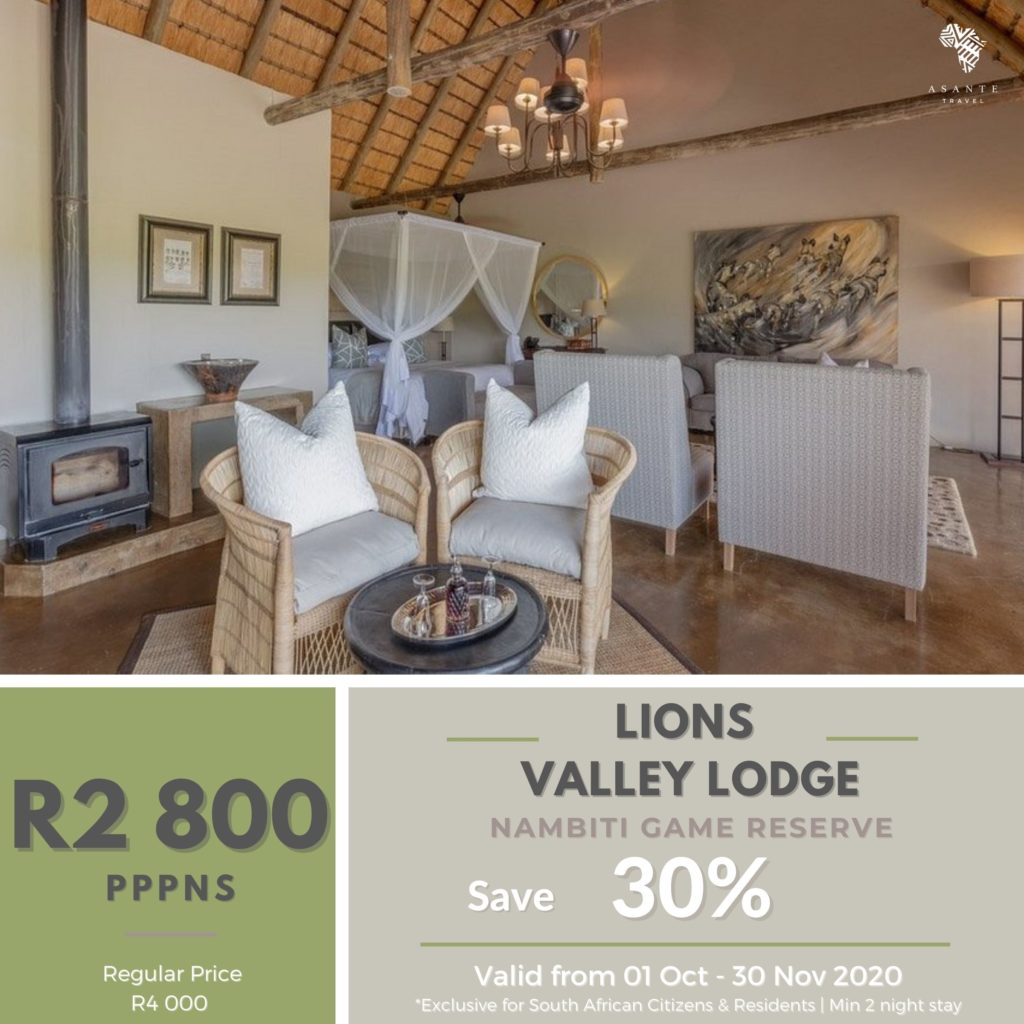 Asante Travel Lions Valley Lodge